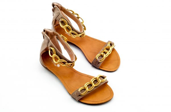 Adora Brown Flat Sandal For Women price, review and buy in