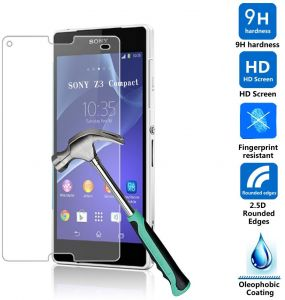 Tempered Glass Screen Protector anti-shock For Sony Xperia Z3 Compact