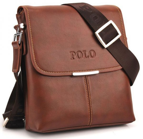 Videng Polo Classic Design Travel Business Bag for Men - Leather ... 244df0d2d153a