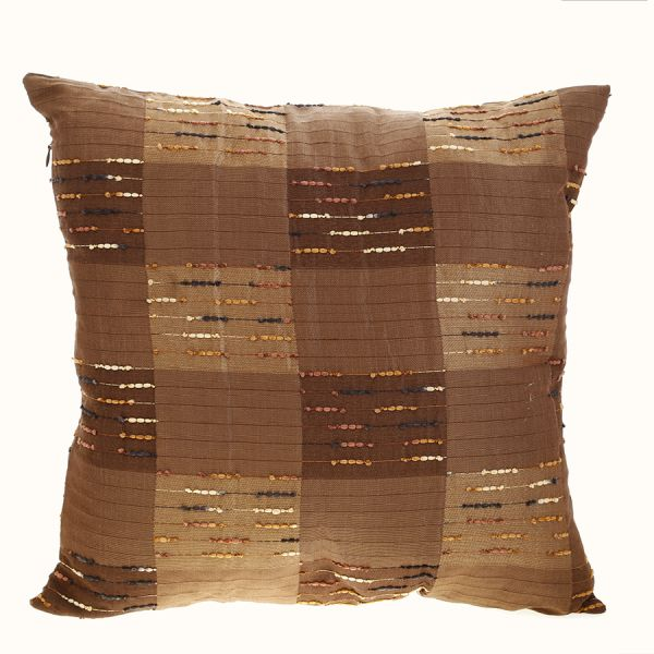 Taraf Brown 40 X 40 Cm Indian Brown Silk Souq UAE Extraordinary Indian Silk Decorative Pillows