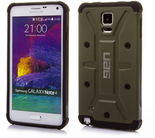 the best attitude c393c 4566f Urban Armor Gear Composite Case with Screen Protector for Samsung Galaxy  Note 4 N910 – Army Green
