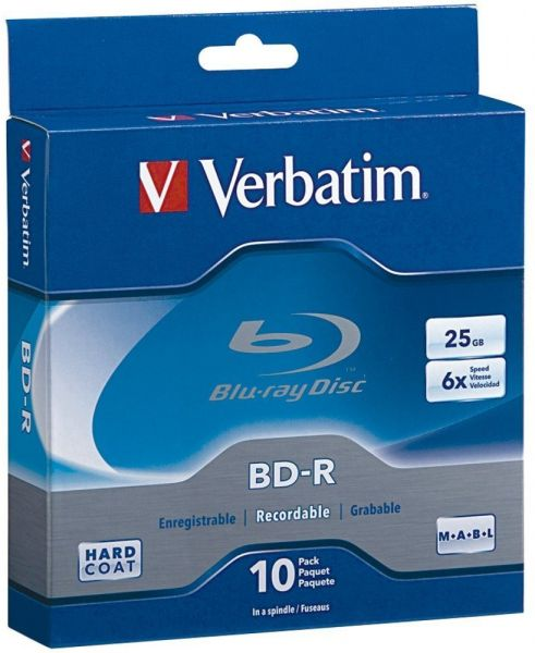 591c0e4ef Verbatim 25 GB 6x Blu-ray Single Layer Recordable Disc BD-R, 10-Disc ...
