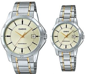 dc7dbb781 Casio His and Hers Stainless Band Couple watch [MTP/LTP-V004SG-9A]
