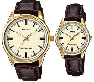 Casio His And Hers Leather Band Couple Watch MTP LTP V005GL 9A