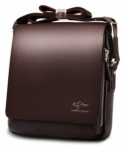 Kangaroo Kingdom Messenger Bag For Men Leather Brown