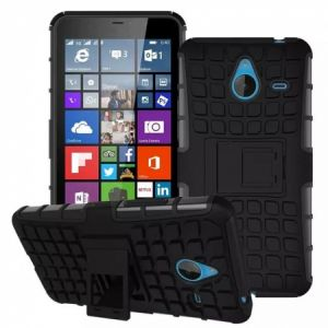 Calans Microsoft Lumia 640 XL HDS Shockproof Case Cover With Screen Protector - Black