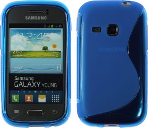 Calans Samsung Galaxy Young S6310 S Body Tpu Case Cover - Blue