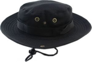 Bucket Hat Boonie Hunting Fishing Outdoor Cap - Wide Brim Military Boonie  Hat black f0f7682c6