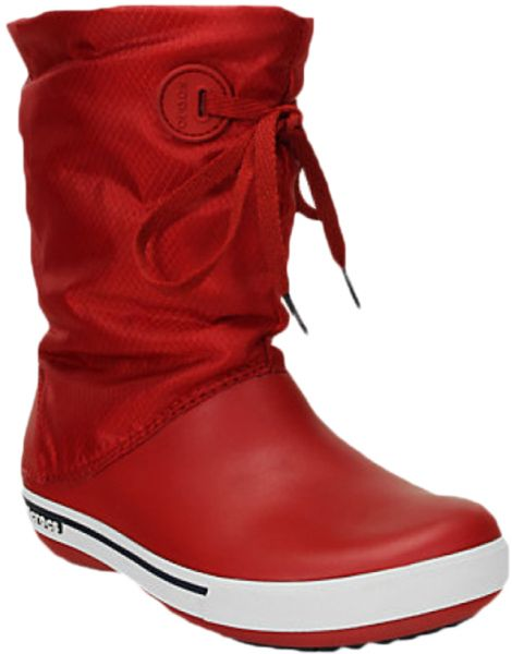 0e5fed0d13a13 Crocs 14545 Crocband Ii.5 Mid Calf Boots For Women - Red And Navy ...