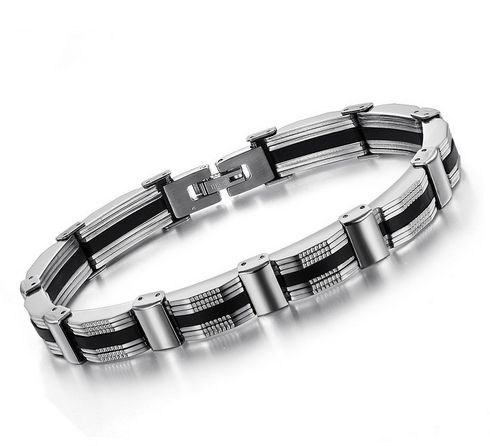 Mens Titanium Gold Bracelet For Men Fashion Jewelry Design Chain
