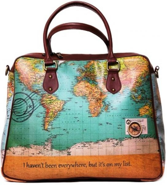 Buy kole fashion travel tote bag in world map design handbags this item is currently out of stock gumiabroncs Image collections
