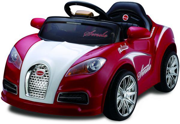 bugatti kids ride on car rechargeable red | souq - uae