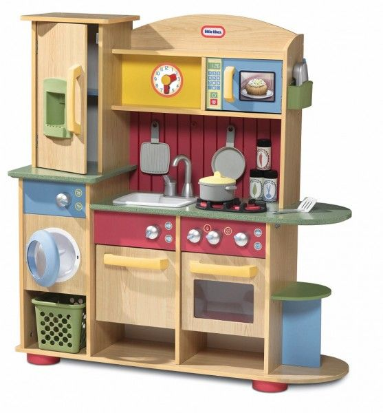 Little Tykes Kitchen: Little Tikes 618697 Cooking Creations Premium Wood Kitchen