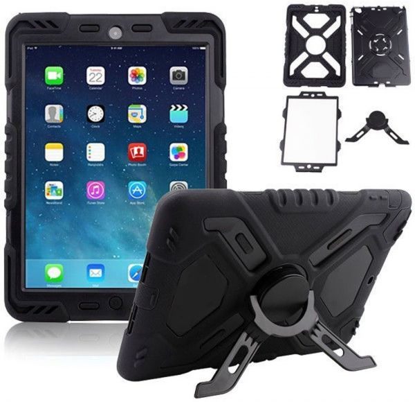 Waterproof Shock Dirtproof Rugged Case Cover Stand For Le Ipad Air Ipad5 Black