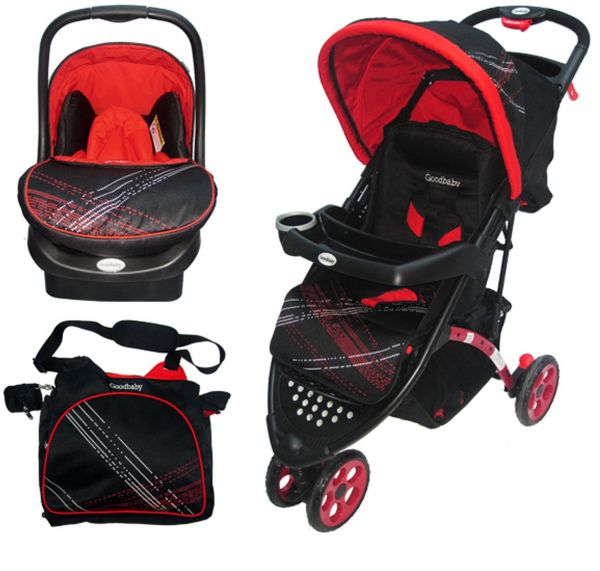 Goodbaby Stroller Car Seat And Baby Bag Combo Red 922AC