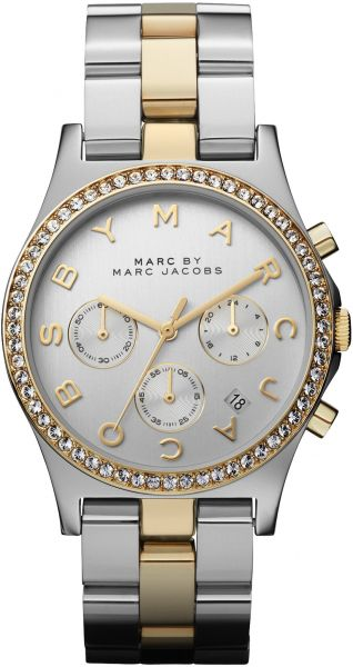 marc by marc jacobs henry chrono womens silver dial