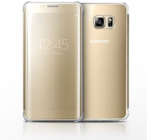 Samsung Galaxy S6 Edge Plus Clear View Cover - Gold