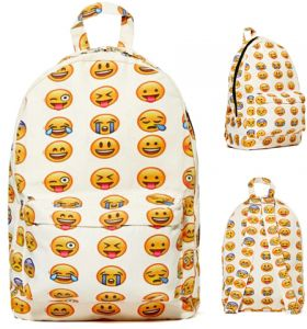 4cec9c949135 Emoji School Backpack For Girls Multicolor