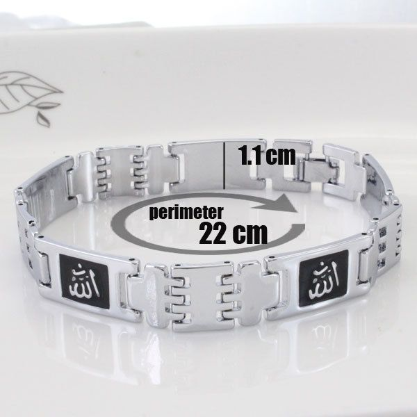 Buy Muslim Allah Symbol Stainless Steel Bracelet For Man Women