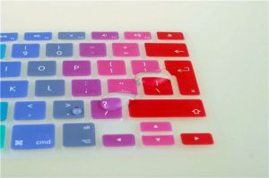Rainbow Silicone Keyboard Cover Skin For Macbook Air 13, Macbook Pro 13/15/17 (uk Layout)