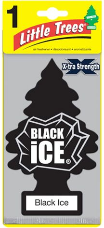 Car-Freshner Little Trees X-tra Black Ice - 1pc