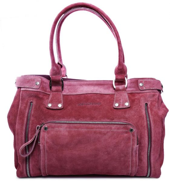 Longchamp Florence Tote Bag for Women - Leather, Purple   Souq - UAE a7754f89a9