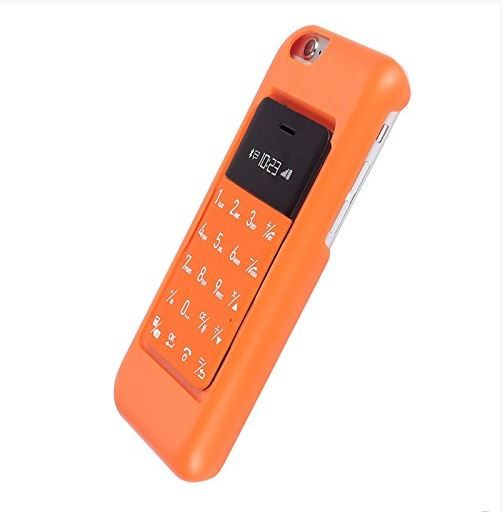 TalKase Mini Mobile Phone (Card Size)- Connect - Sycn with Free iPhone 6  Case