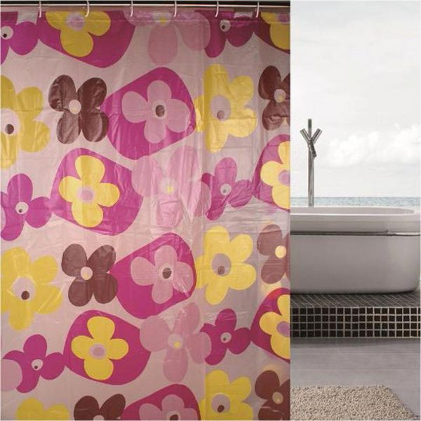 Red daisy shower curtain price review and buy in kuwait for Bathroom accessories kuwait