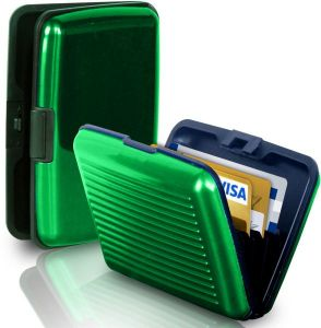 Sale on business card scanner buy business card scanner online at business travel id credit card holder wallet aluminum metal pocket case box green reheart Gallery