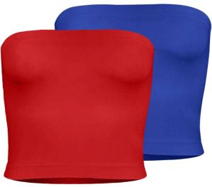 b8d5c6a2210 Silvy Set Of 2 Tube Tops For Women - Red   Dark Blue