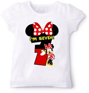 Minnie Mouse In Red IM Seven Birthday T Shirt