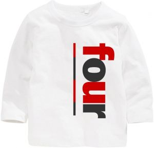 Number Four Birthday Long Sleeved T Shirt