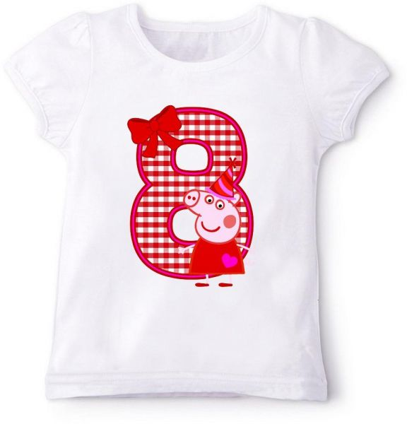 Peppa Pig 8Th Birthday T Shirt