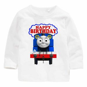 Thomas And His Friends Happy Birthday Long Sleeve T Shirt 5 Years