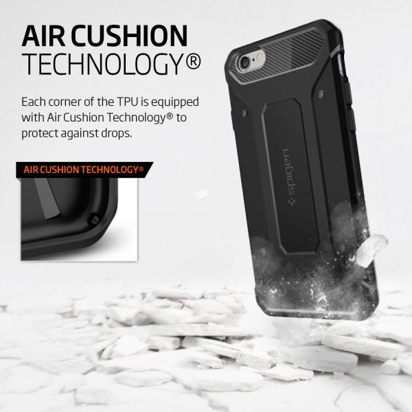 the best attitude 65c7d ab356 Spigen iPhone 6S / 6 Capsule Rugged Armor Cover / Case - Black