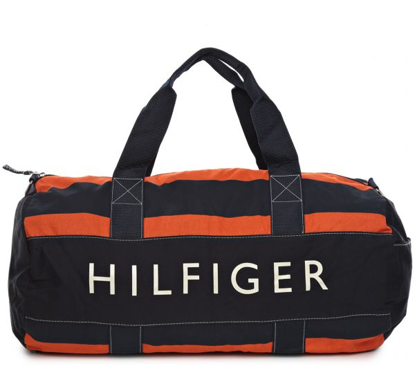 eea8c7bfa50 Tommy Hilfiger M86929228886 Large Duffle Bag for Men - Canvas, Navy ...