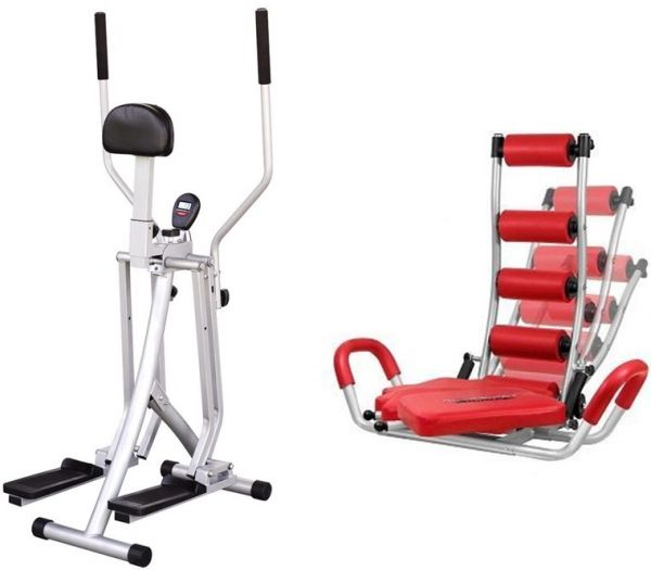 Fitness Bundle of Ab Rocket Twister And Home Gym Exercise Machine (WA-16-8)
