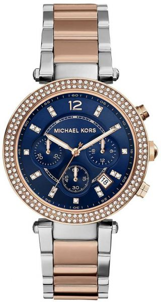 f2fb8698a415 Michael Kors Parker Women s Navy Dial Stainless Steel Band Watch - MK6141.  by Michael Kors