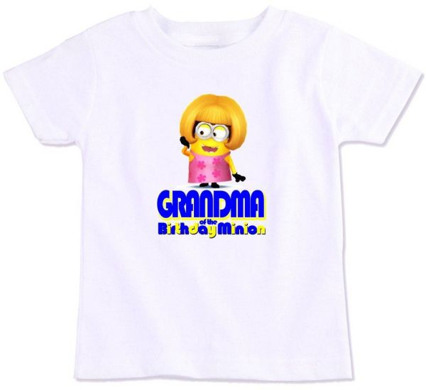 Grandma Of The Birthday Minion Family Matching T Shirt Large