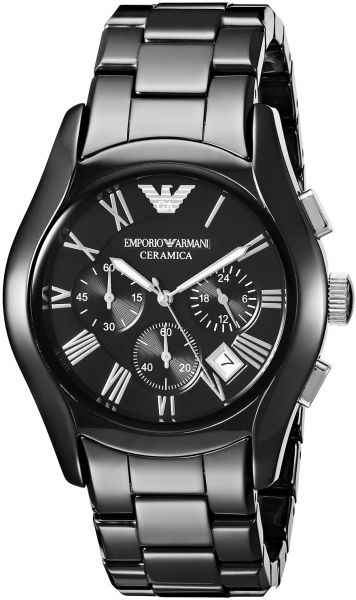 Emporio Armani Ceramica Men s Black Dial Ceramic Band Chronograph ... 9dceedf07