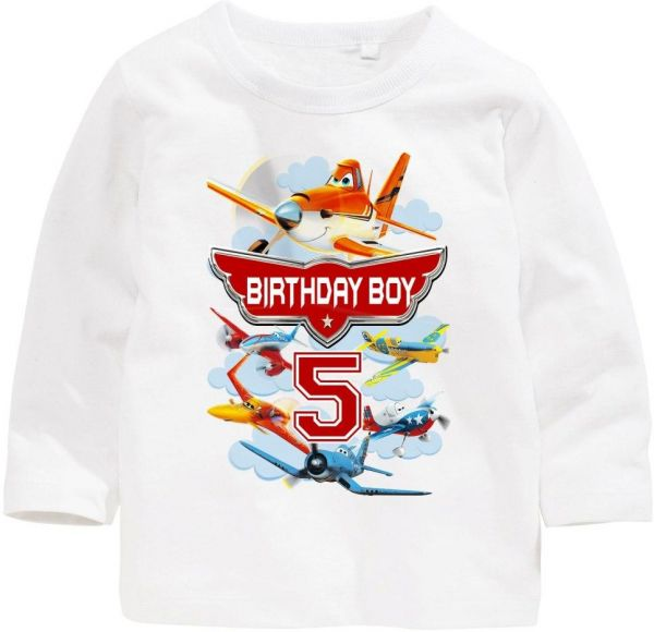 Disney Planes Birthday Boy 5 Long Sleeved T Shirt