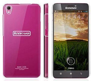 Imak Crystal Transparent Flip Thin Hard Bumper Back Case Cover For Lenovo S850 With Screen Guard