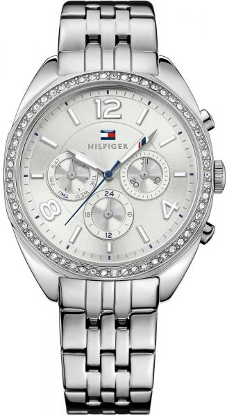 bd0f17d0 Tommy Hilfiger Mia Women's Silver Dial Stainless Steel Band Watch ...