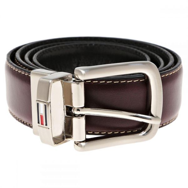 cbab6ffd9938 Tommy Hilfiger Brown Leather Belt For Men