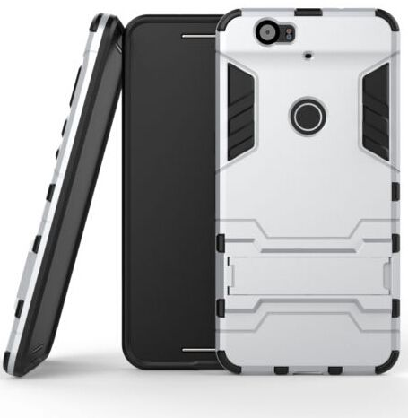 pretty nice ed1e2 e04b7 Calans Huawei Nexus 6P Armor Shockproof Stand Case Cover With Screen  Protector - Silver