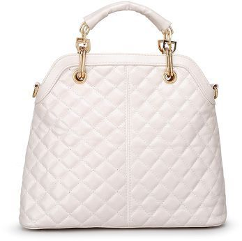 9f88867a48 Fashion Women Ladies Stylish PU Leather Satchel Small Size Tote Purse  Messenger Hand Bag White color