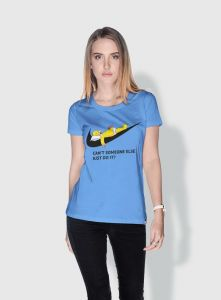 cd2a85749fef3 Creo Simpson Minions Round Neck T-Shirt For Women - Blue