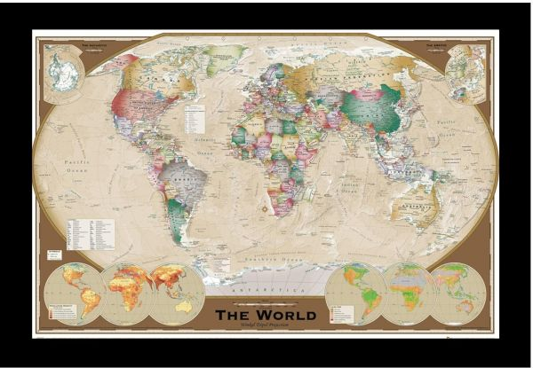 Maxi posters gn0532 world map price review and buy in kuwait this item is currently out of stock gumiabroncs Images
