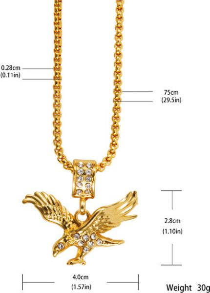 Buy real gold 18k gold necklace solid gold pendant necklace men real gold 18k gold necklace solid gold pendant necklace men jewelry eagle necklace aloadofball Gallery