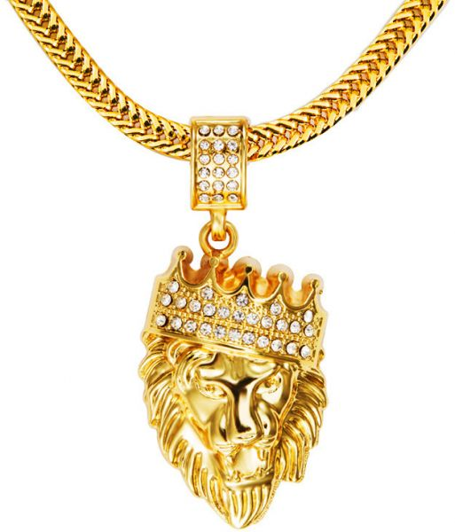 Real 18k gold plated chain men hip hop hiphop lion king crown real 18k gold plated chain men hip hop hiphop lion king crown necklaces mozeypictures Image collections